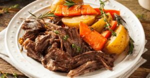Homemade Slow Cooker Pot Roast with Potatoes and Carrots