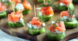 Homemade Smoked Salmon Cucumber Bites