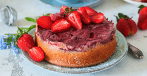 Homemade Strawberry Upside Down Cake