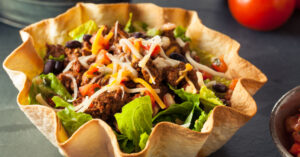 Homemade Taco Salad in a Tortilla Bowl