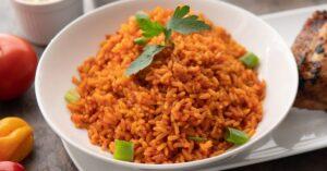 Jollof Rice with Green Onions