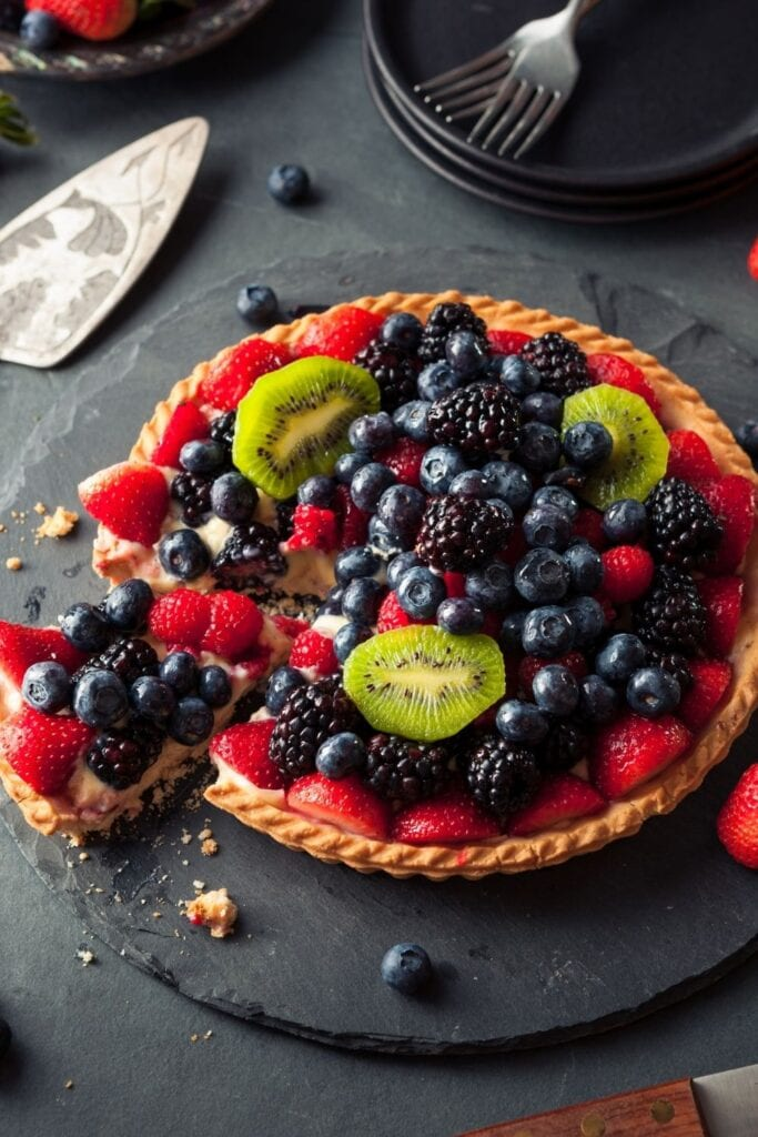 Key Lime Fruit Tart with Berries