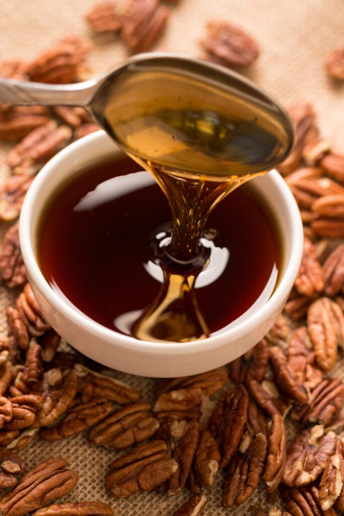 Pecans and Maple Syrup