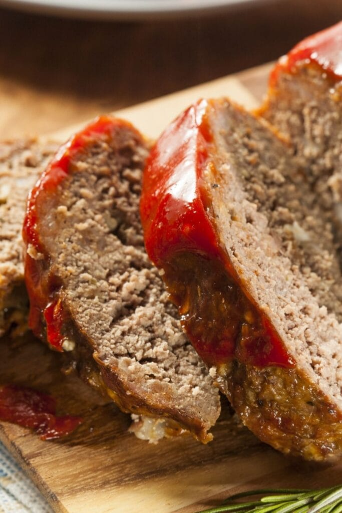 Meatloaf with Ketchup and Spices