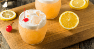 Refreshing Sour Cocktail with Cherry on Top