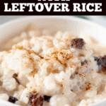 Rice Pudding with Leftover Rice