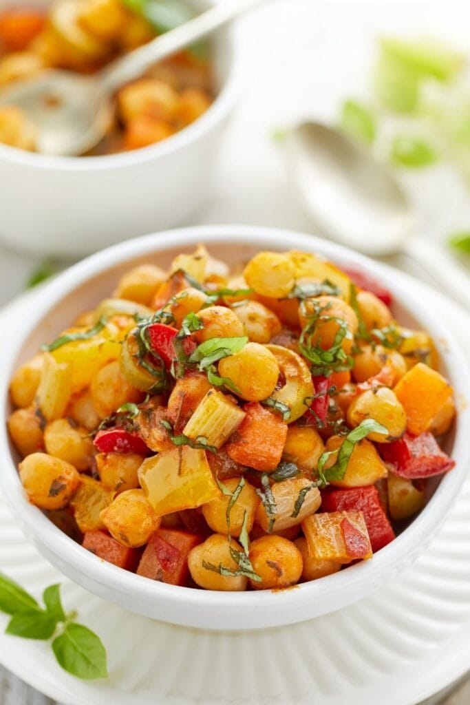 Vegan Stew: Chickpeas and Tomatoes