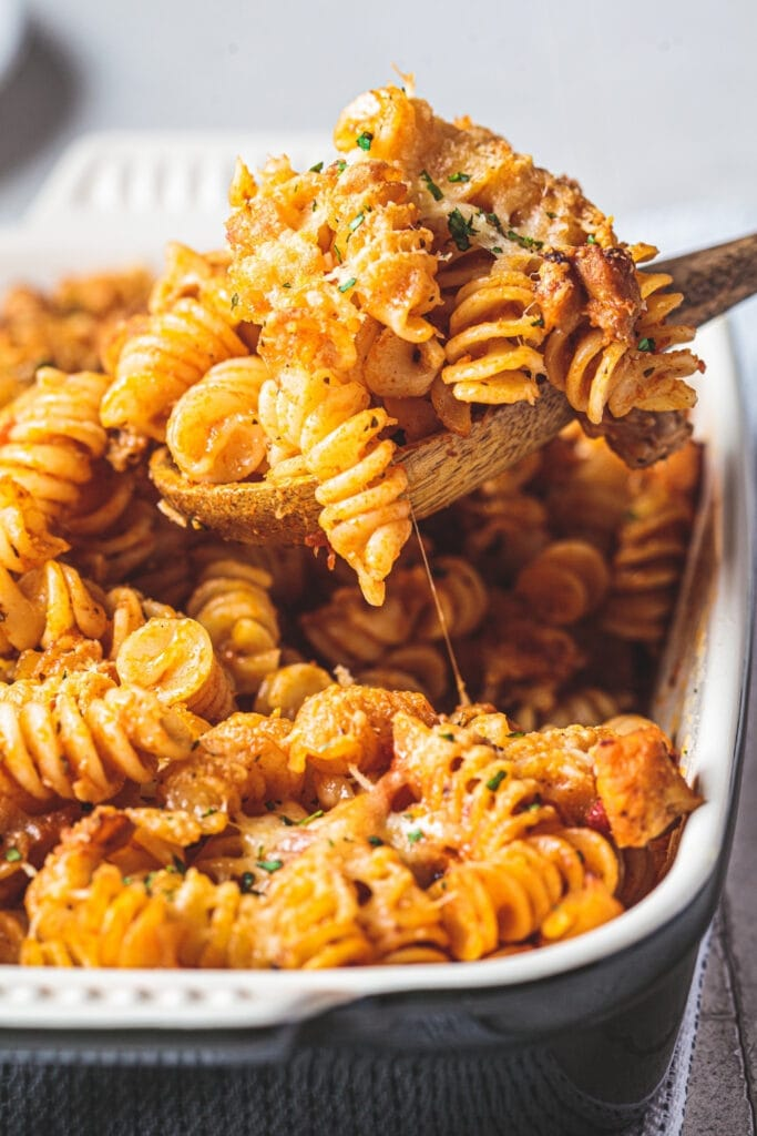 Amish Country Pasta Casserole with Ground Beef