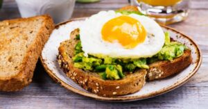 Avocado and Egg Toast for Breakfast