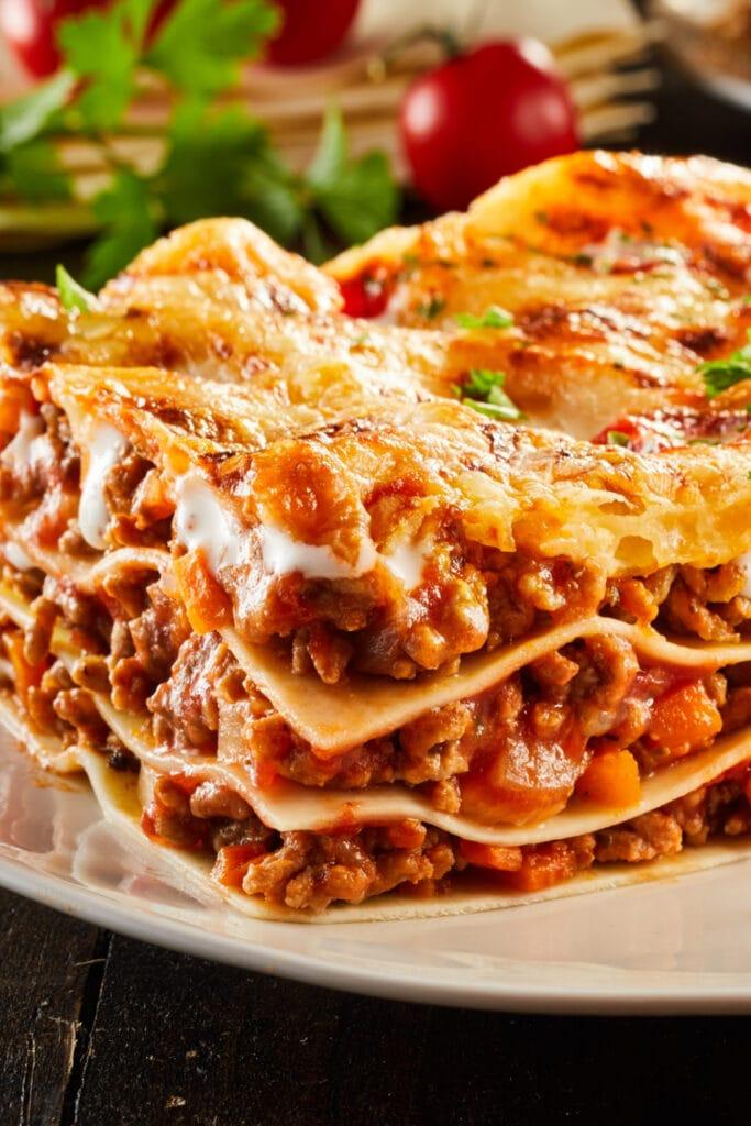 Homemade Barilla Lasagna