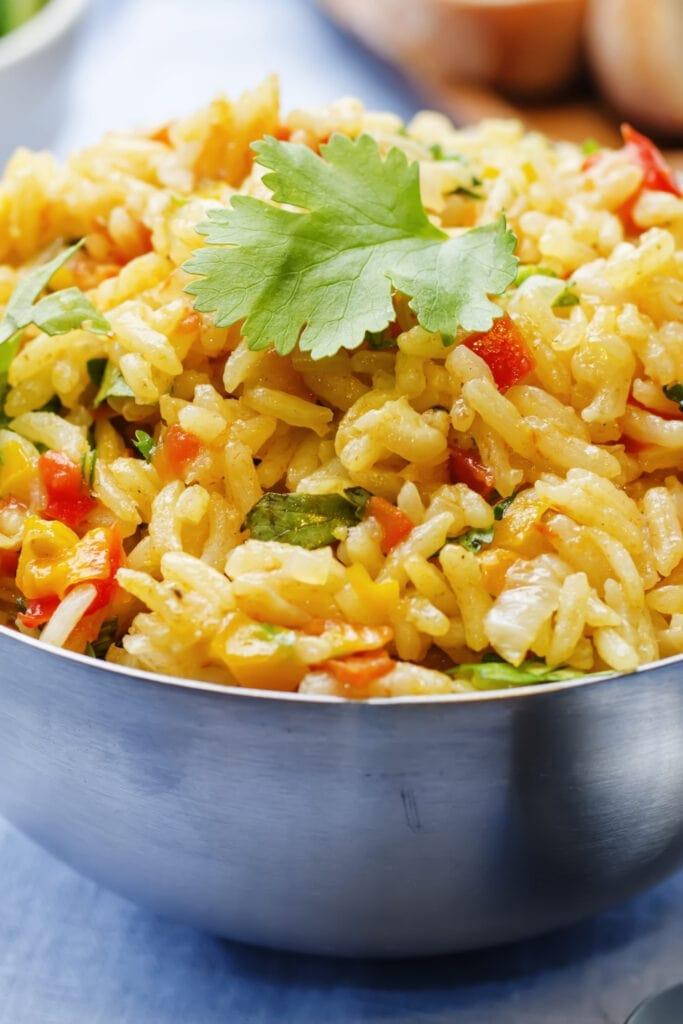 Bowl of Saffron Rice