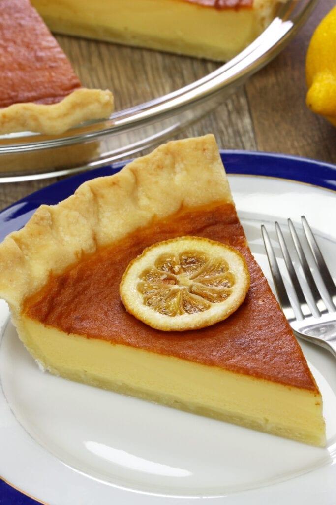 Buttermilk Pie with Lemon
