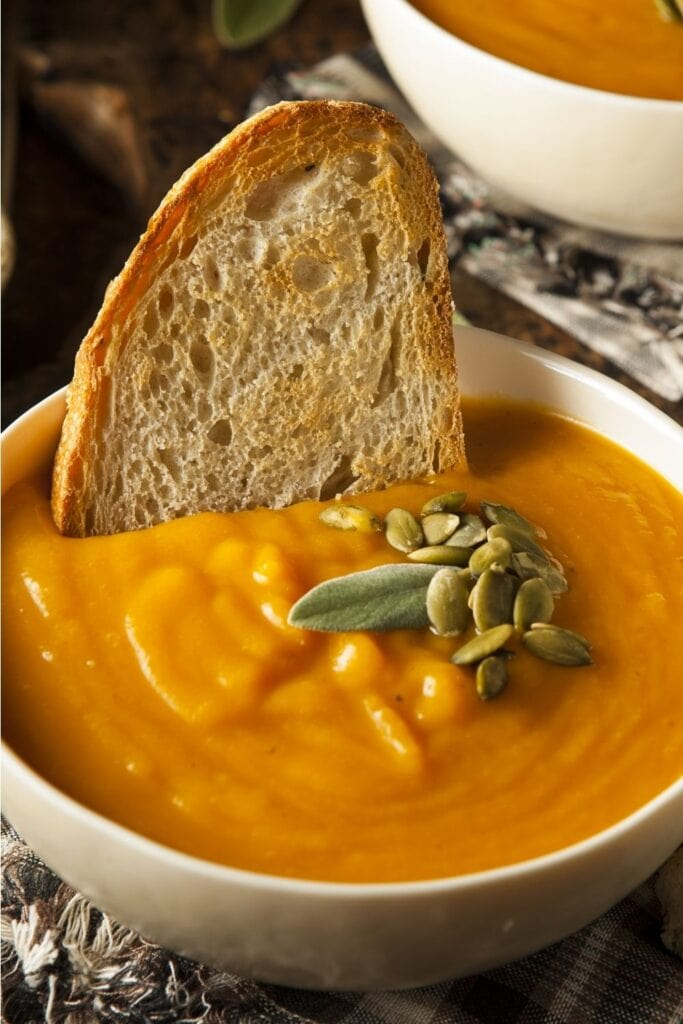 Butternut Squash Soup with Bread