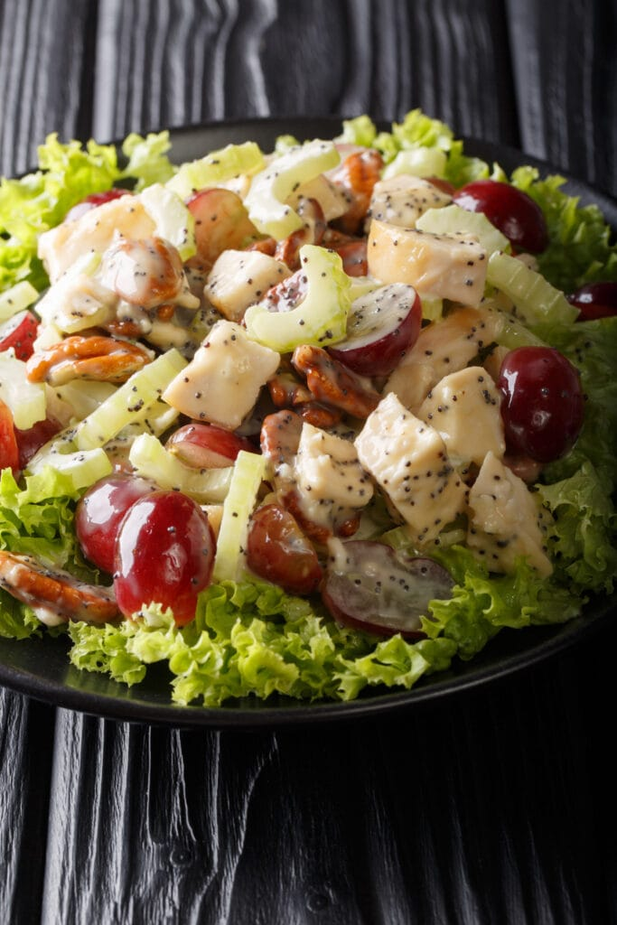 Chicken Breast Salad with Celery, Chicken and Grapes