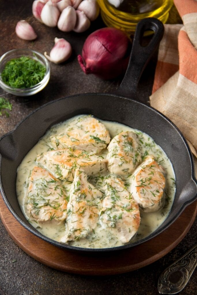 Chicken Fillet with Cream Sauce and Dill