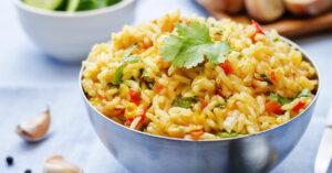 Cooked Saffron Rice