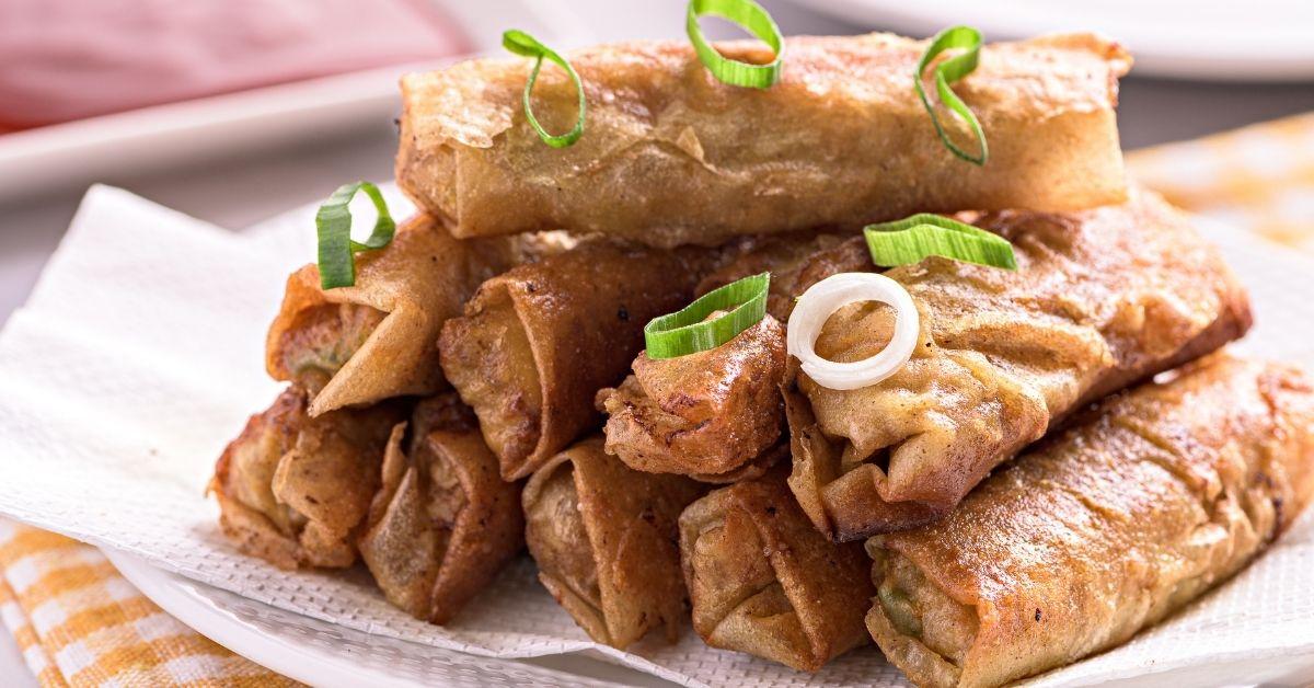 Filipino Pork Spring Rolls with Onions