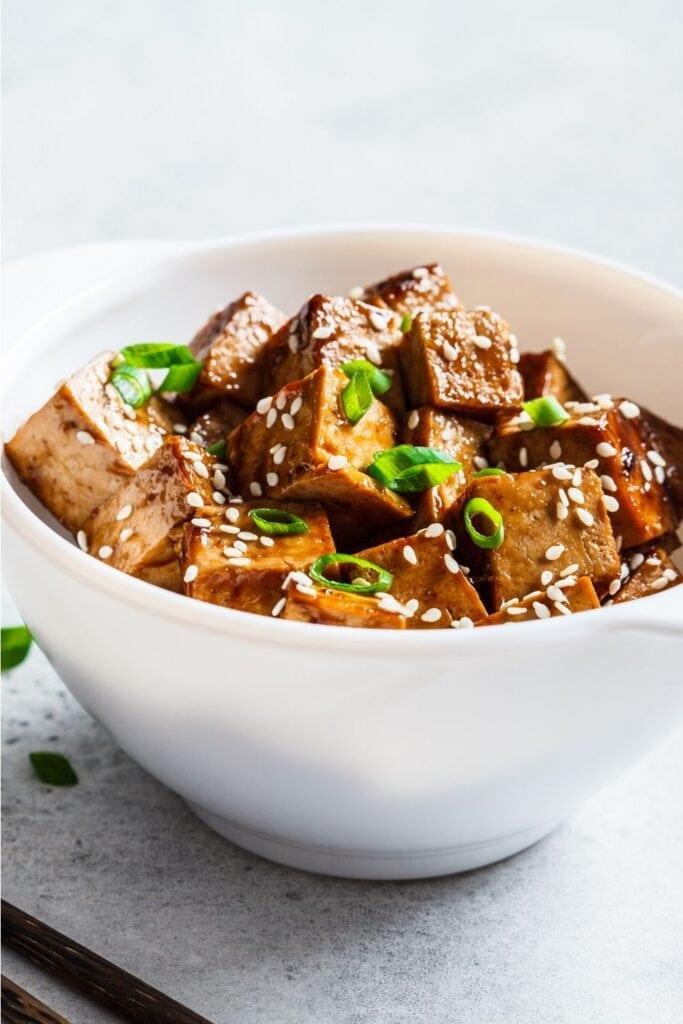 Fried Tofu with Teriyaki Sauce