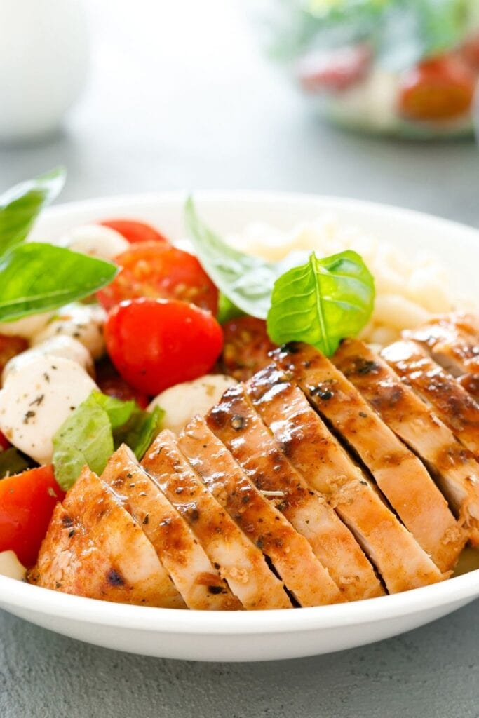 Grilled Chicken with Caprese Salad