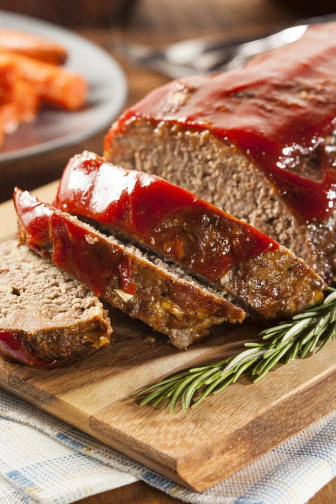 Ground Beef Meatloaf with Ketchup