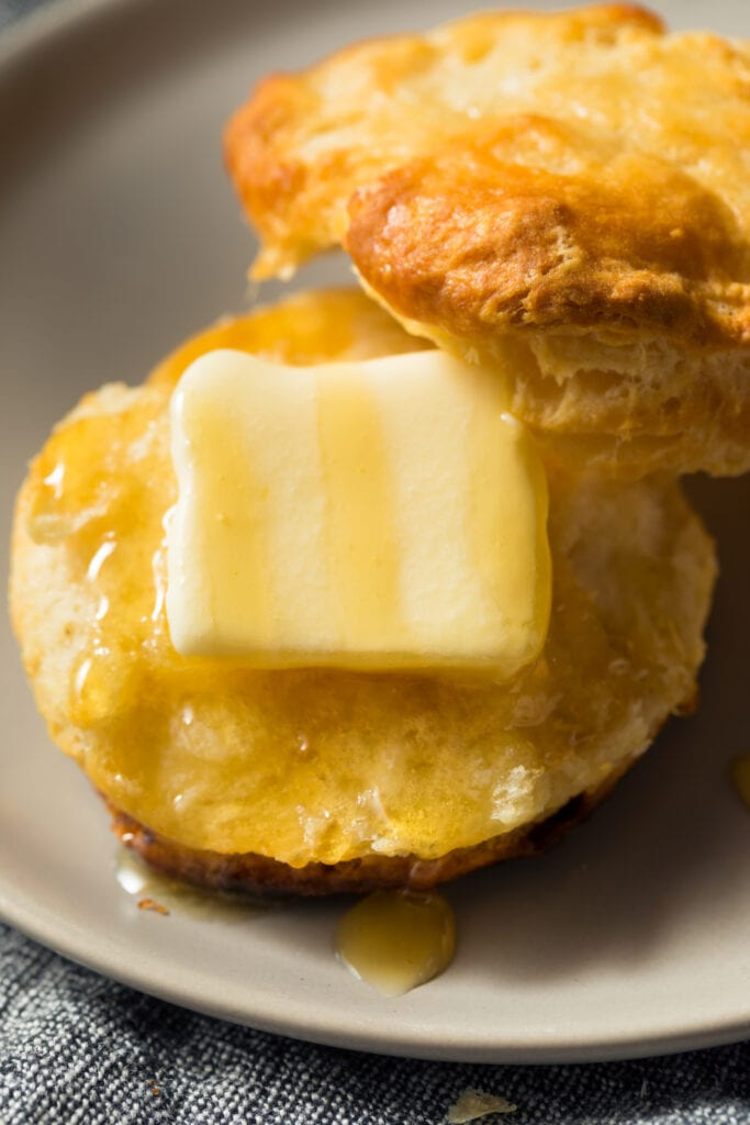 Homemade Carbquik Buttermilk Biscuit