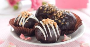Homemade Chocolate Cake Truffles with Nuts