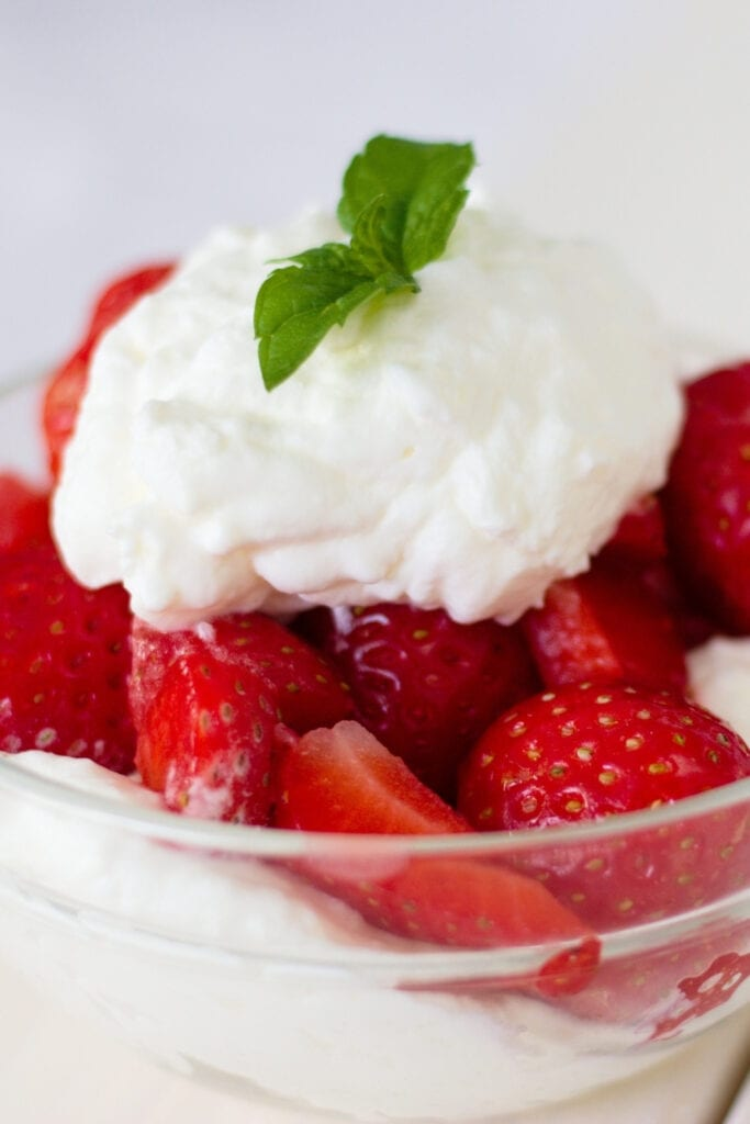 Homemade Cool Whip with Fresh Strawberries