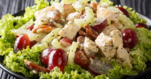 Homemade Costco Chicken Salad with Grapes, Celery and Pecans