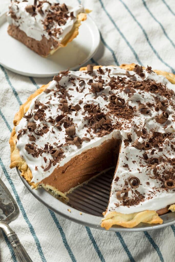Homemade Dream Whip Chocolate Pie
