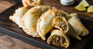 Homemade Empanadas with Minced Meat Stuffing