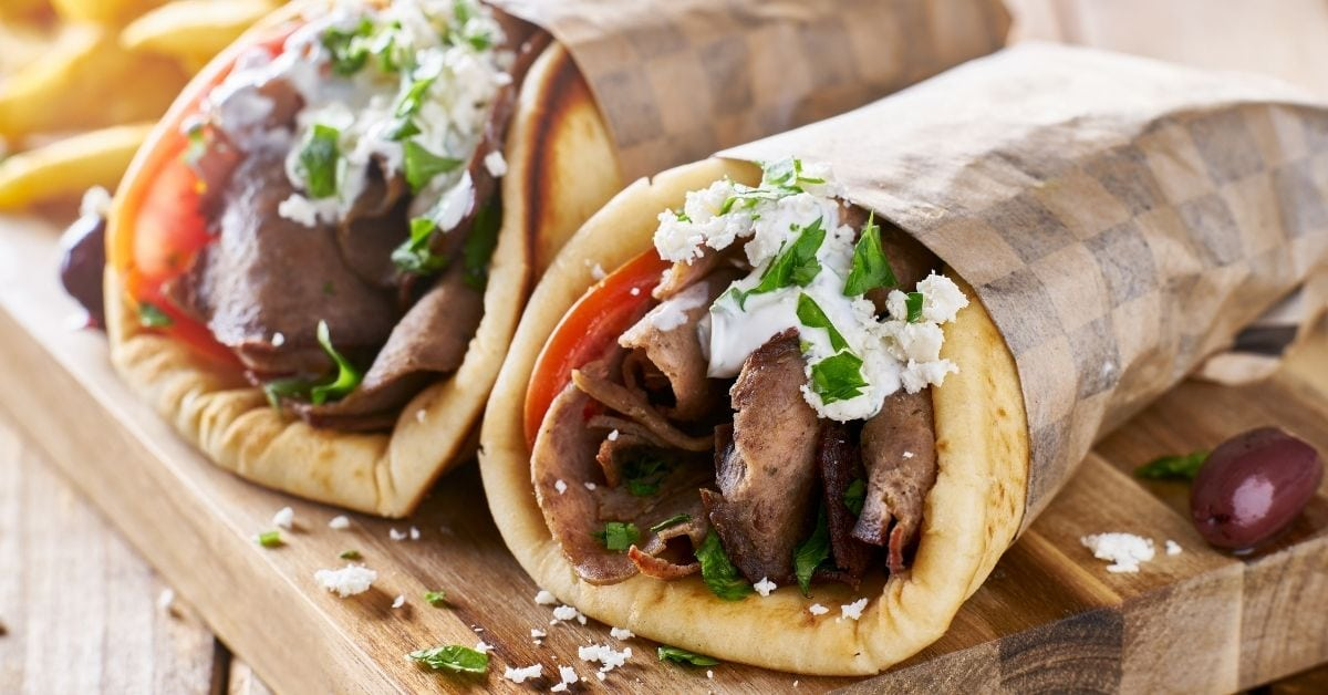 Homemade Greek Lamb Meat Gyros