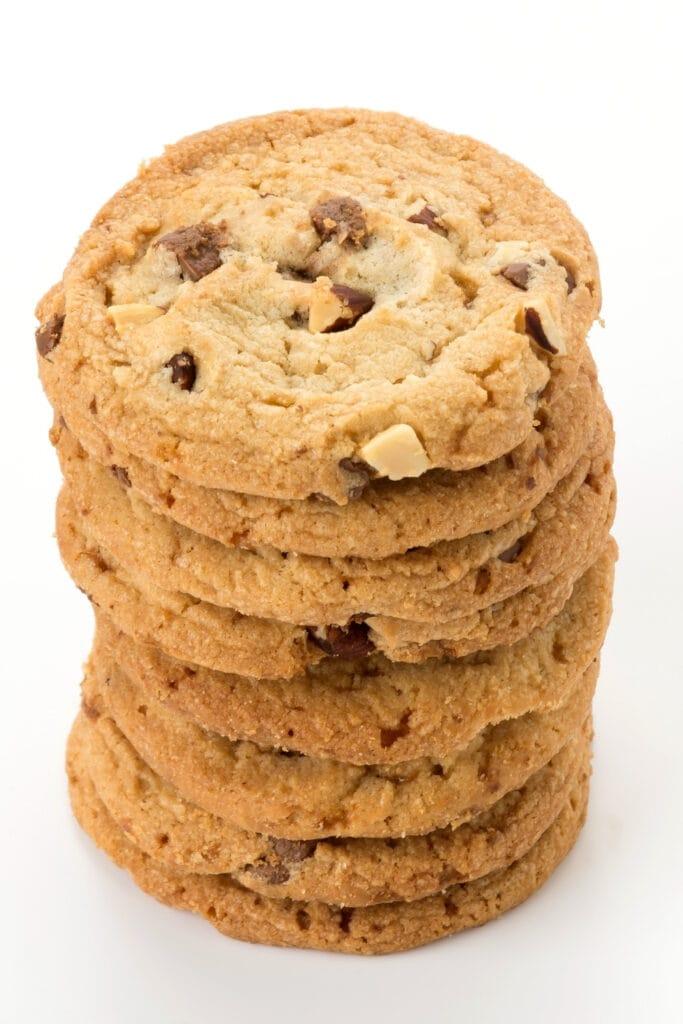 Homemade Heath Bar Cookies with Almonds