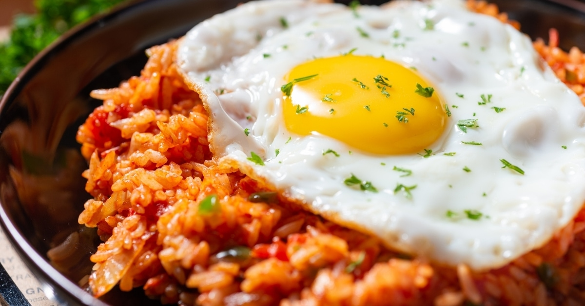 Homemade Kimchi Fried Rice with Egg