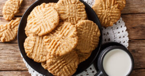 Homemade Peanut Butter Cookies with Milk