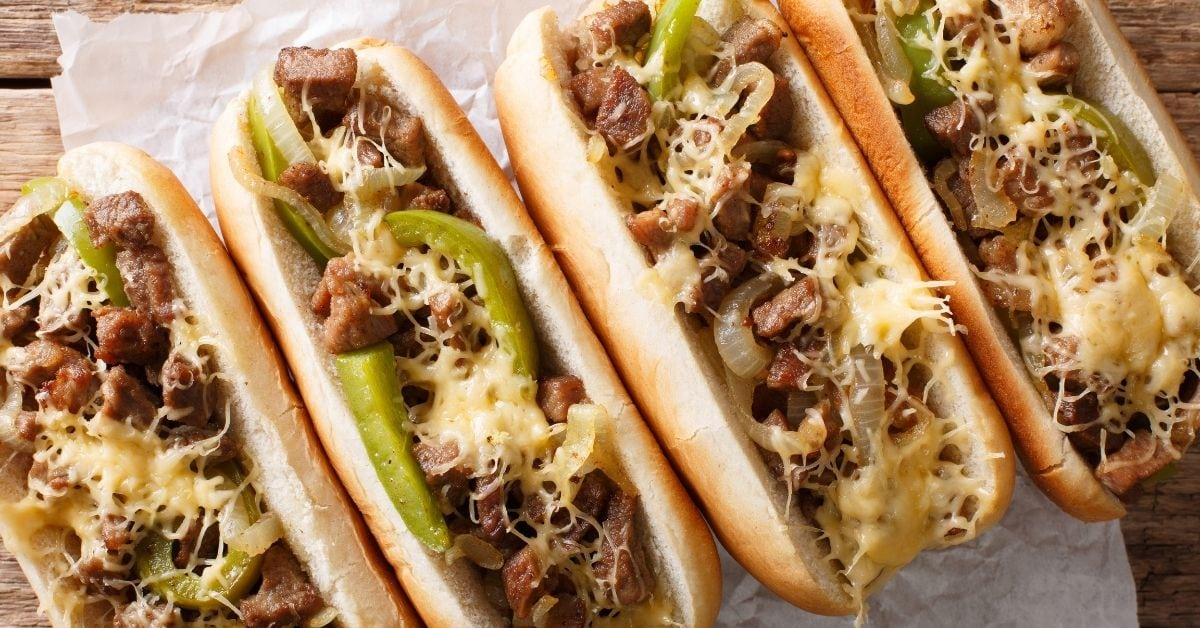 Homemade Philly Cheesesteak Sandwich