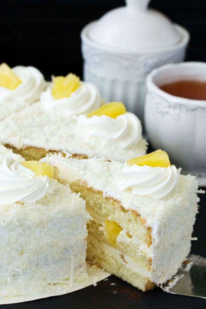 Homemade Pineapple Angel Food Cake