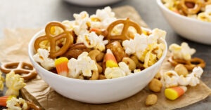 Homemade Snack Mix in a Bowl