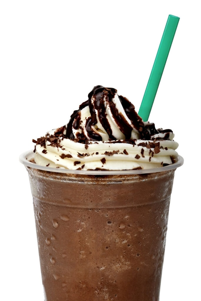 Homemade Starbucks Double Chocolate Chip Frappuccino
