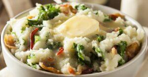 Irish Mashed Potato Colcannon with Butter