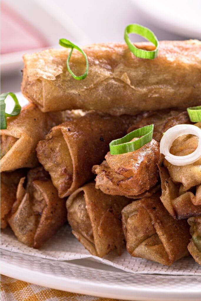 Lumpiang Shanghai or Pork Spring Rolls with Onions