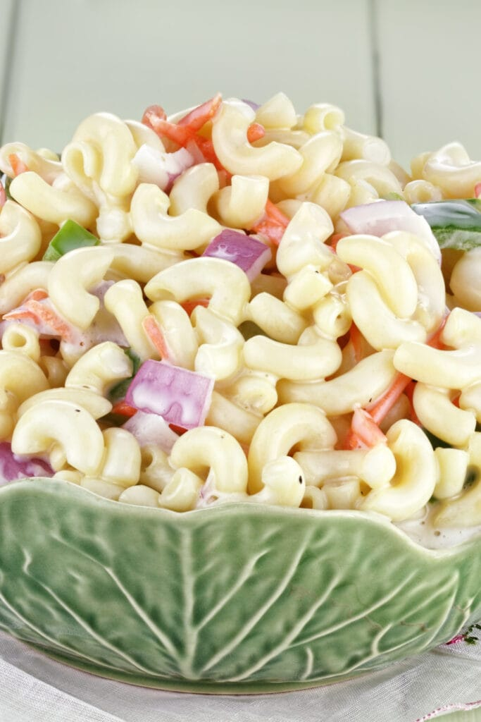 Macaroni Salad with Mayonnaise and Vegetables