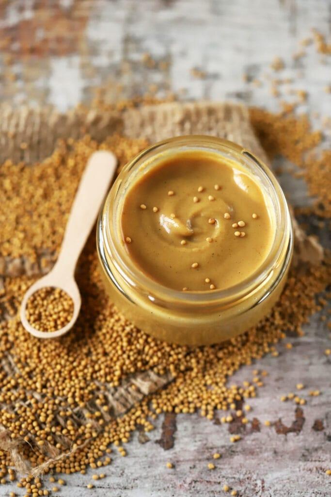 Mustard Grains with Mustard Sauce