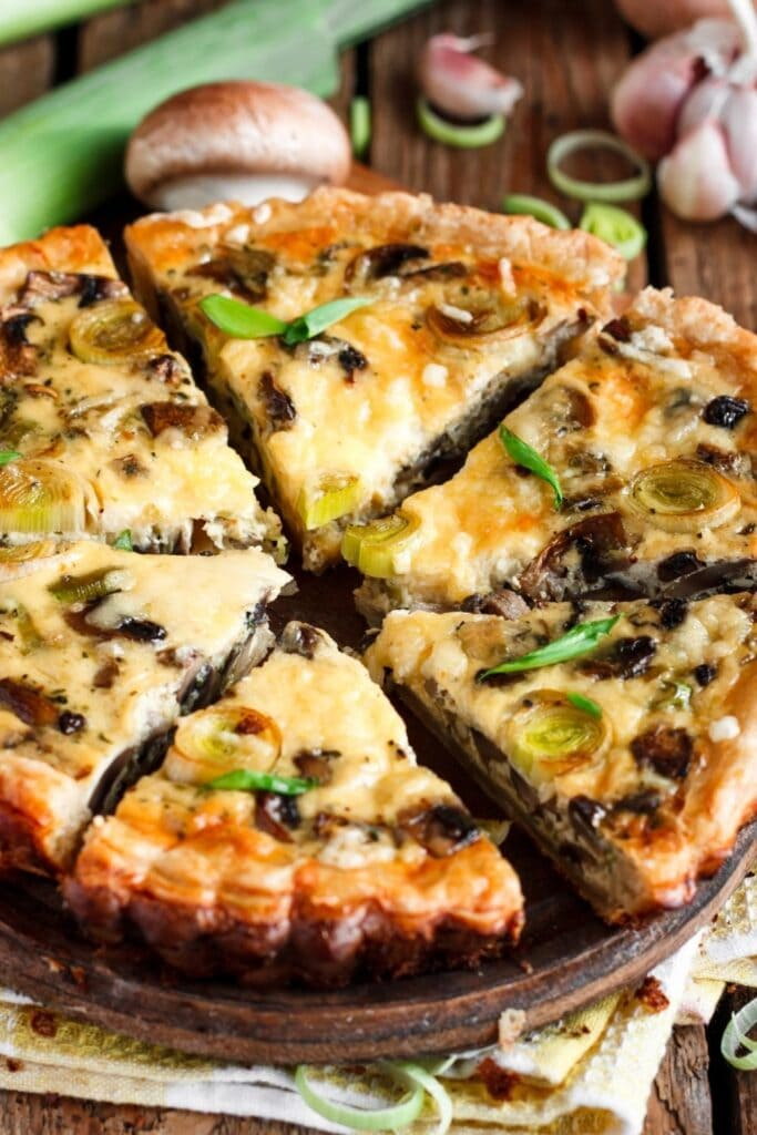 Quiche with Leek and Mushrooms
