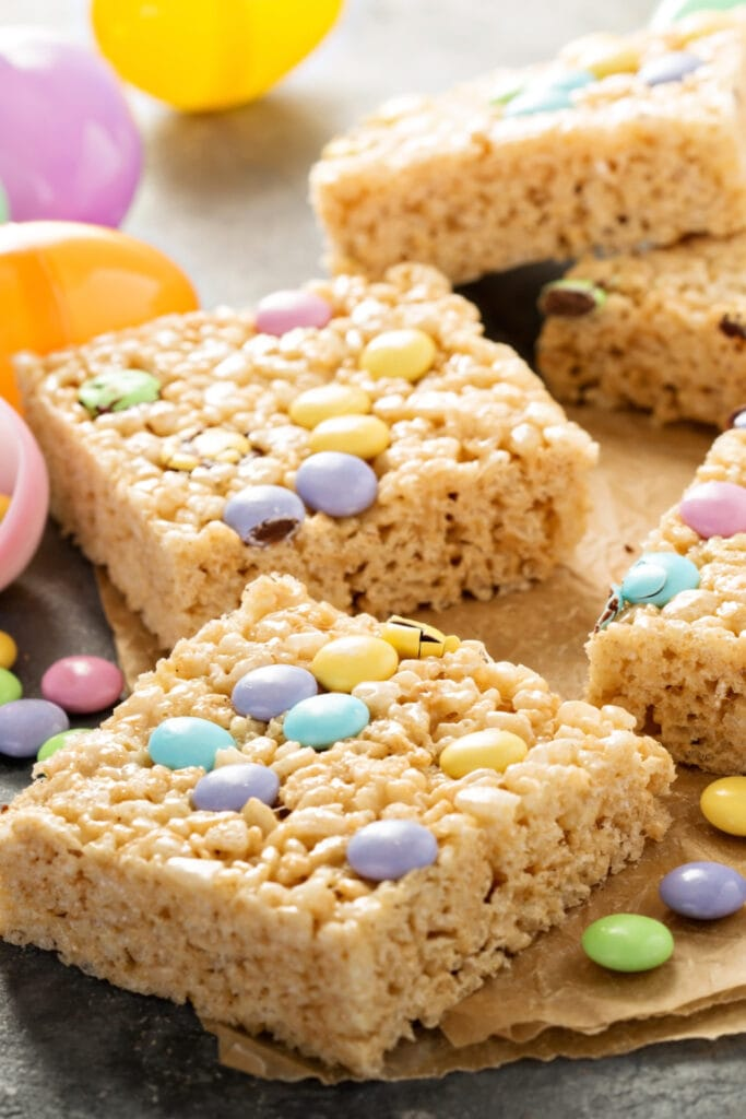 Rice Krispie Treats with Colored Candies