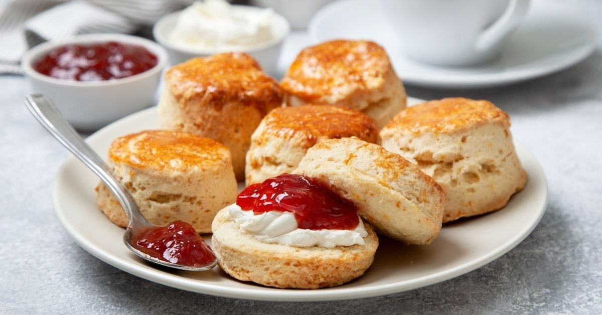 Scones with Strawberry Jam and a Cup of Tea