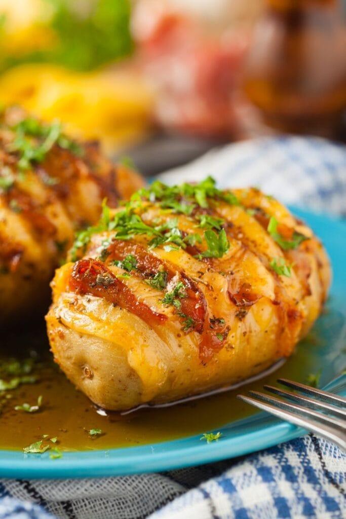 Stuffed Cheese Hasselback Potatoes