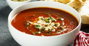 Tomato Soup with Cheese and Sauce