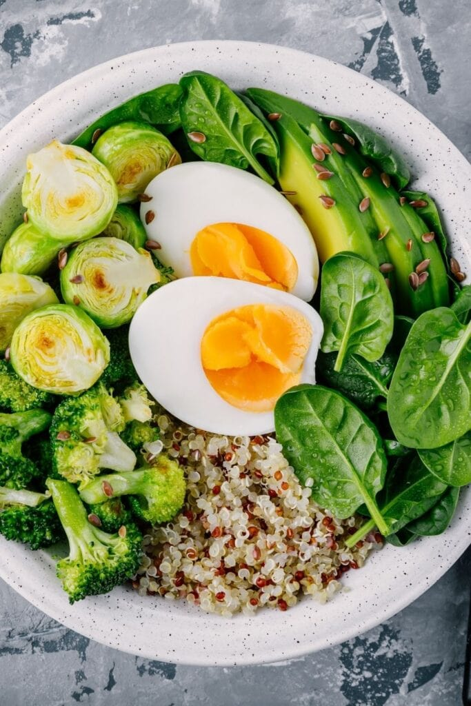 Vegetable Bowl with Eggs