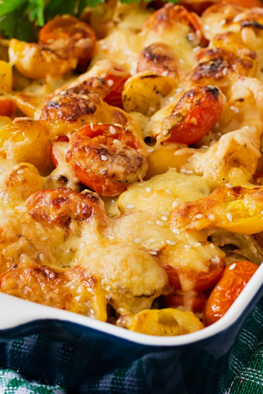 Vegetable Casserole with Zucchini, Mushrooms and Cherry Tomatoes