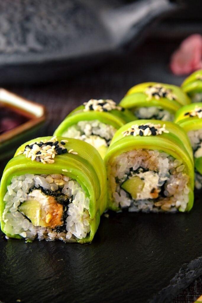 Vegetarian Avocado Sushi Rolls
